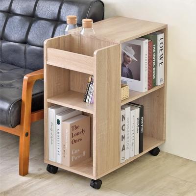 《HOPMA》DIY巧收開放式多格收納櫃/邊櫃/桌櫃/沙發邊櫃/置物櫃/滑輪/美背-寬30 x深60x高69cm