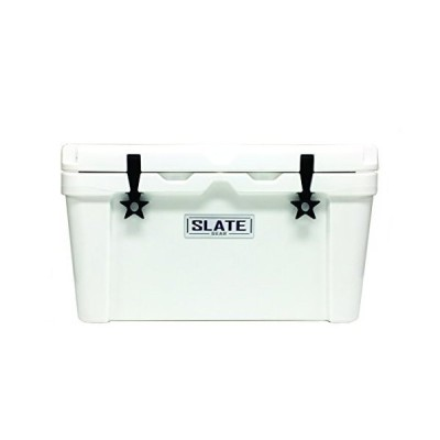 Slate Gear Roto Molded YETI, RTIC Style Cooler. Heavy Duty, Fishing and Camping Ice Chest. (50 Quart, White)