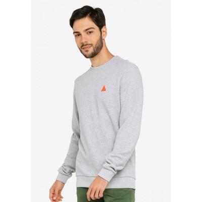 ブレンド Blend メンズ スウェット・トレーナー トップス Mini Logo Sweatshirt Stone Mix