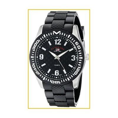 【☆送料無料☆新品・未使用品☆】U.S. Polo Assn. Sport Men's US9077 Black Rubber Analog Watch【並行輸入品】