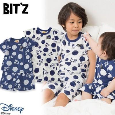 Bitz ビッツ DY総柄帰省セット B358017 キッズ ベビー トップス ボトムス ボトム 上下セット Tシャツ ズボン 子供 こども 子ども 4016478 DYC