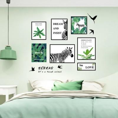 2枚セット ウォールステッカー 壁紙 シール 貼ってはがせる 壁装飾 おしゃれ 防水 クリエイティブ装飾 リビングルーム ホーム 寝室 葉