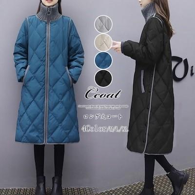 秋冬新作超暖か防寒ダウンジャケット ロングタイプ 軽量 アウター ロング 韓国ファッション