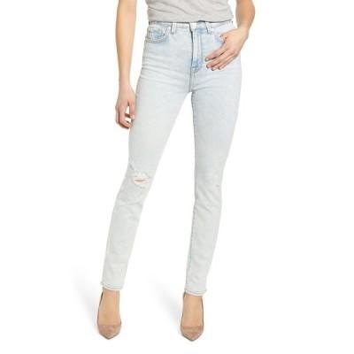 7フォーオールマンカインド レディース デニムパンツ ボトムス High Rise Distressed Skinny Jeans GRDSTDESTR