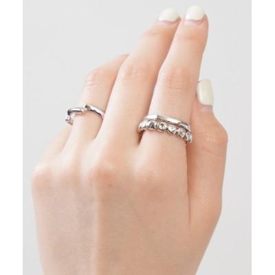 指輪 【3個セット】メタルリング