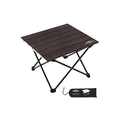 soomloom キャンプ テーブル アウトドアテーブル アルミニウム合金製 超軽量 折畳式 耐荷重30kg 収納ケース付き (ブラウン)