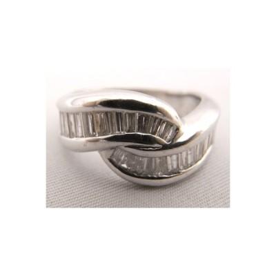 【送料無料】【中古】【程度A】Pt900 プラチナ900 指輪 角ダイヤモンド 1.00ct ノーブランド リング