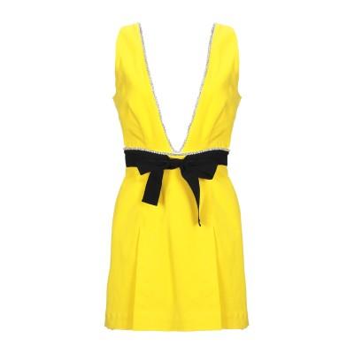 BROGNANO ミニワンピース&ドレス イエロー 44 コットン 95% / ポリウレタン 5% ミニワンピース&ドレス