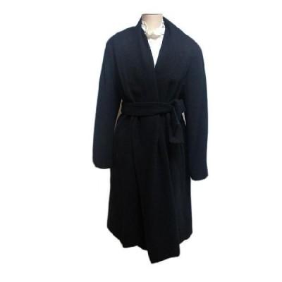 9号 ウールコート ブラック(キャシャレル レナウンルック)ビッグカラーコート
