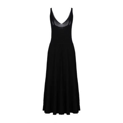 SANDRO FERRONE 7分丈ワンピース・ドレス ブラック L レーヨン 63% / ナイロン 37% 7分丈ワンピース・ドレス
