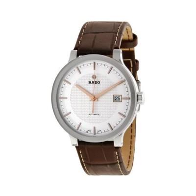 ラドー Centrix オートマチック シルバー ダイヤル ブラウン レザー メンズ 腕時計 R30939125