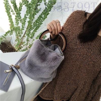 秋冬新作フェイクファーバッグハンドバッグショルダーバッグ2way斜め掛け無地ふわふわ可愛いカバンレディース鞄かばんチェーン
