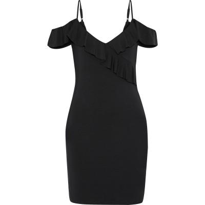 TART COLLECTIONS ミニワンピース&ドレス ブラック XS レーヨン 95% / ポリウレタン 5% ミニワンピース&ドレス