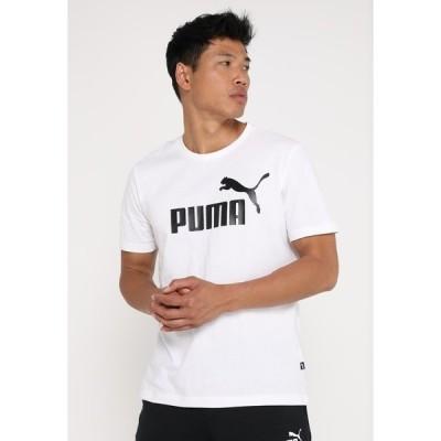 プーマ Tシャツ メンズ トップス LOGO TEE - Print T-shirt - white