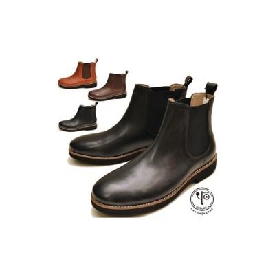 サイドゴアブーツ メンズ 本革 ヨースケ YOSUKE 靴 ※(予約)は3営業日内に発送