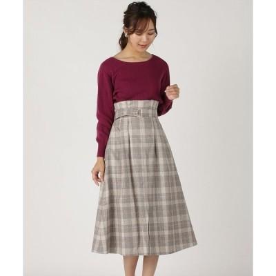 スカート ベスト付きセミフレアースカート