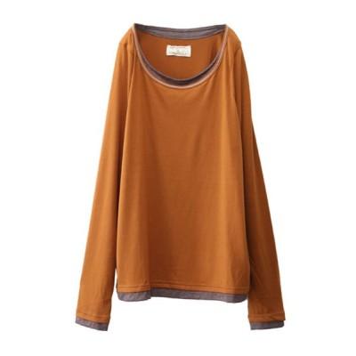 osharewalker / 『レイヤード風指穴ロンT』 WOMEN トップス > Tシャツ/カットソー
