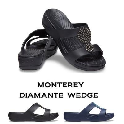 【クロックス crocs レディース】monterey diamante wedge モントレー ディアマンテ ウェッジ /ウィメン オフィス 事務