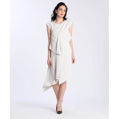 ef-de/エフデ 《M Maglie le cassetto》アシンメトリーデザインドレス グレーベージュ3 09