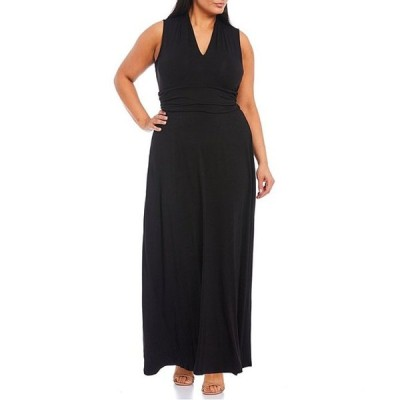 ヴィンスカムート レディース ワンピース トップス Plus Size Sleeveless Knit Maxi Dress