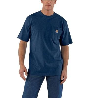 カーハート Carhartt メンズ Tシャツ ポケット トップス Workwear Pocket SS T Shirt Dark Cobalt Blue Heather