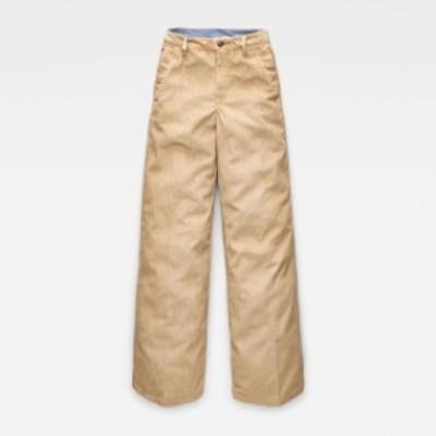 gstar ジースター ファッション 女性用ウェア ズボン gstar ww-bronson-high-wide-leg-nivai-bold-cord-l30