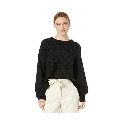 Splendid レディース クルーネック ケーブルニット プルオーバー セーター スウェットシャツ US サイズ: Medium カラー: ブラック