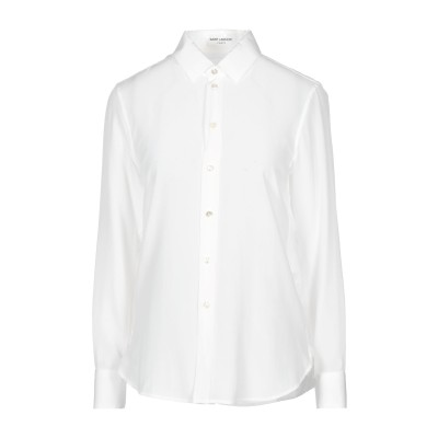 SAINT LAURENT シャツ ホワイト 38 シルク 100% シャツ