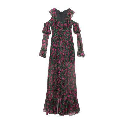 RAQUEL DINIZ ロングワンピース&ドレス グリーン 40 シルク 100% ロングワンピース&ドレス
