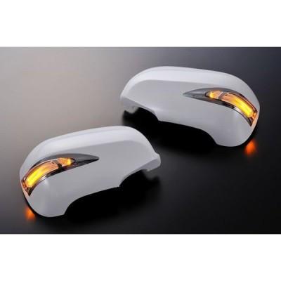【Revier(レヴィーア)】【未塗装】 GS350/GS430/GS450h LEDライトバーLS600ルックメッキリム付 LEDウインカードアミラーカバー 純正交換タイプ