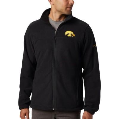 コロンビア Columbia メンズ フリース トップス Iowa Hawkeyes Flanker Full-Zip Fleece Black Jacket