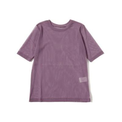 【ビームス ウィメン】 Ray BEAMS / チュールシアー クルーネック Tシャツ レディース PURPLE ONESIZE BEAMS WOMEN