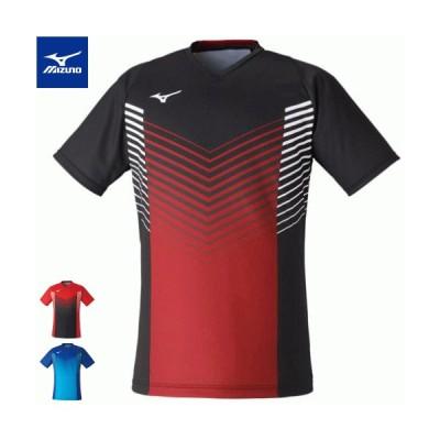 MIZUNO ミズノ ソフトテニス ウェア ゲームシャツ 半袖シャツ ユニホーム ユニセックス 72MA1004 バドミントン 1枚までメール便OK