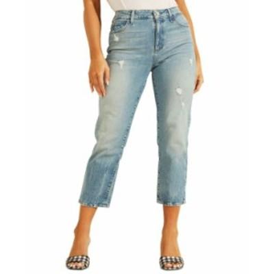 ゲス レディース デニムパンツ ボトムス Cropped 1981 Straight-Leg Jeans Electric Circut