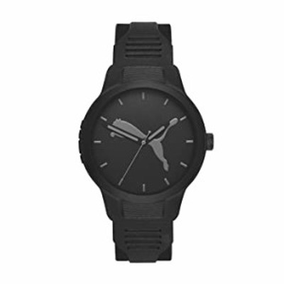 PUMA Men Reset V2 Polyurethane Watch, Color: Black (Model: P5004)