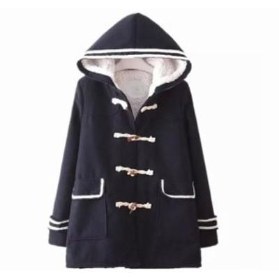 森ガール アウター 防寒 あたたかい フード付き 厚手 女子高生 制服 可愛い コート レディース