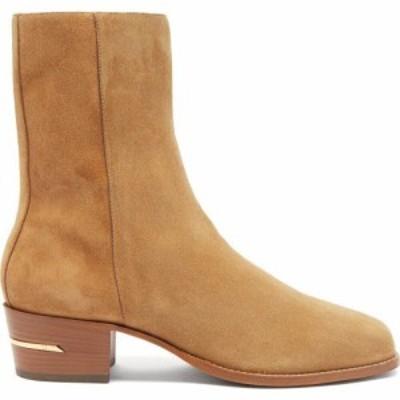 アミリ Amiri メンズ ブーツ ショートブーツ スクエアトゥ シューズ・靴 Square-toe suede ankle boots Light brown