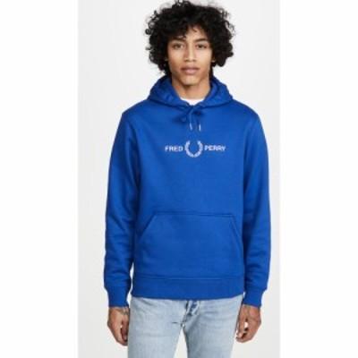 フレッドペリー Fred Perry メンズ パーカー トップス Graphic Hooded Sweatshirt Cobalt