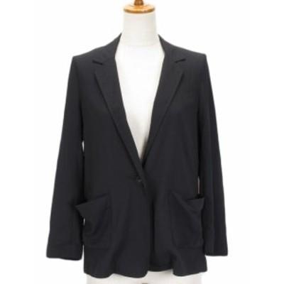 【中古】エージーバイアクアガール AG by aquagirl シャツジャケット 1ボタン M 黒 ブラック レディース