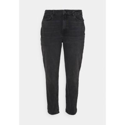 イーブン アンド オド レディース デニムパンツ ボトムス Slim fit jeans - black denim black denim