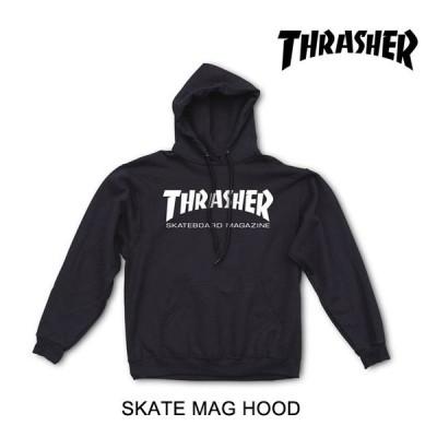 THRASHER スラッシャー フーディー SKATE MAG HOOD BLACK USAモデル