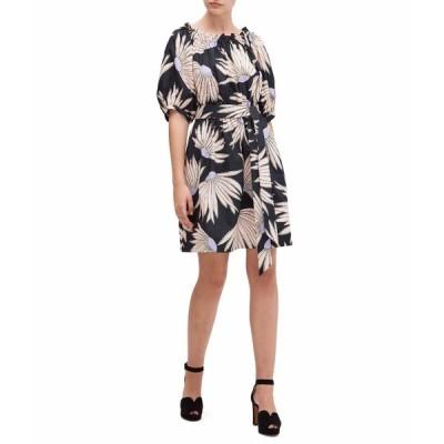 ケイト スペード ワンピース トップス レディース Falling Flower Dress Black