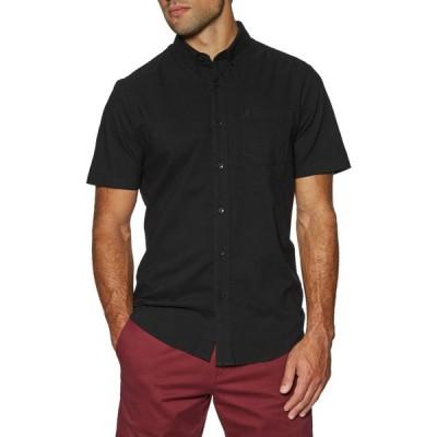 ボルコム Volcom メンズ 半袖シャツ トップス everett oxford short sleeve shirt New Black