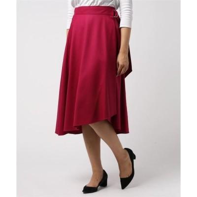 スカート サキソニーフレアラップスカート