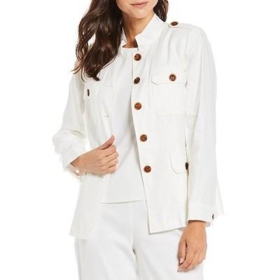 プレストンアンドヨーク レディース ジャケット&ブルゾン アウター Tia Linen Blend Utility Jacket White