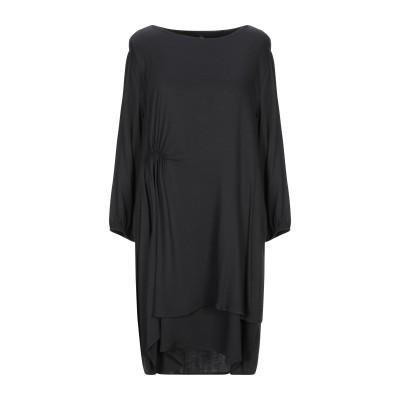 マニラ グレース MANILA GRACE ミニワンピース&ドレス ブラック 40 レーヨン 97% / ポリウレタン 3% ミニワンピース&ドレス