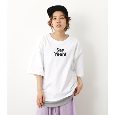 メッセージTシャツタンクセット O/WHT1