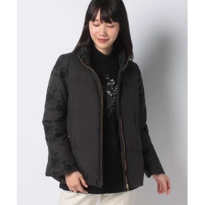 (VICE VERSA/バイス バーサ)オリジナル刺繍入り ダウンコート/レディース ブラック