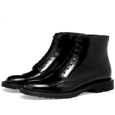 イヴ サンローラン Saint Laurent メンズ ブーツ レースアップブーツ シューズ・靴 army lace up boot Black