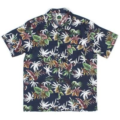 7UNION 半袖 セブンユニオン Big Island Shirt ハワイアンシャツ アロハシャツ ネイビー